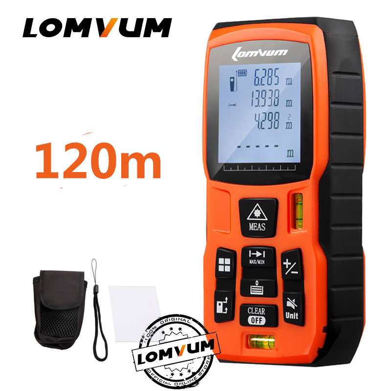 LOMVUM 40m governante fita métrica trena medidor Laser Rangefinders Medidor de Distância medidor range finder Digital lazer metreler