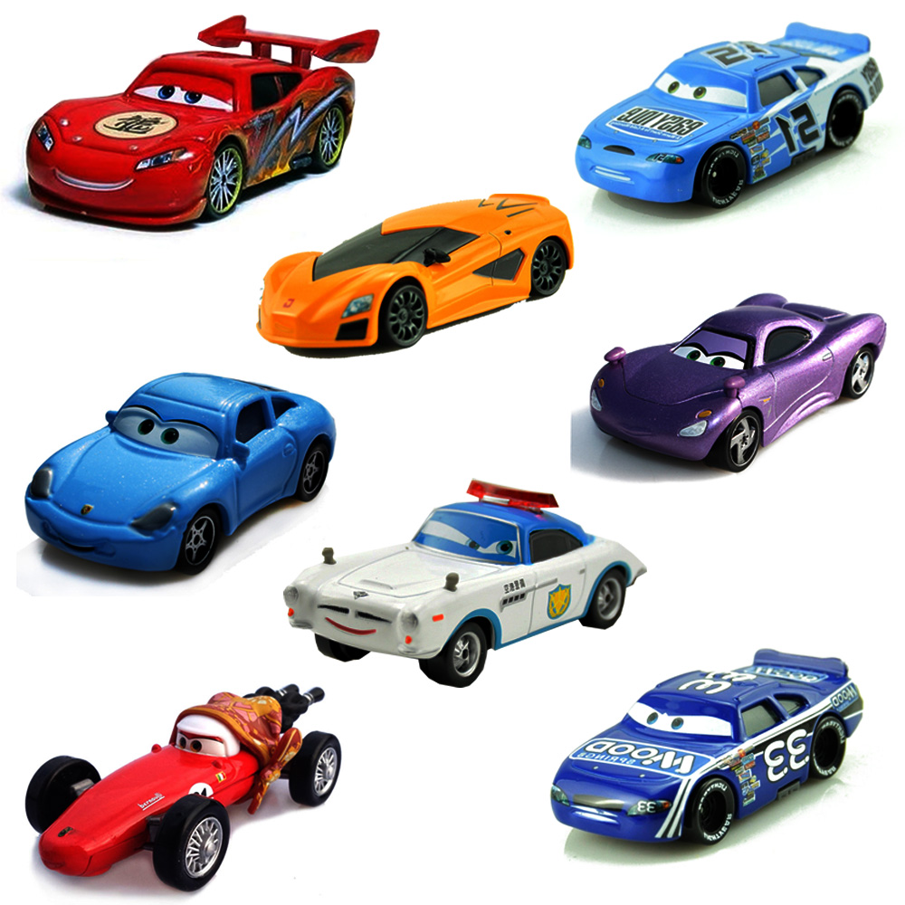 24 Styles Disney Pixar Cars Lightning McQueen Mater 1:55 Diecast Metal Alloy Cars Toys Birthday Gift For Kids Boys Cars Toys