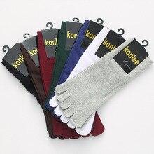 Бренд Для мужчин 100% хлопок носок Носки для девочек модные мужские пять пальцев Носки для девочек Демисезонный Повседневное Носки для девочек с пальцами