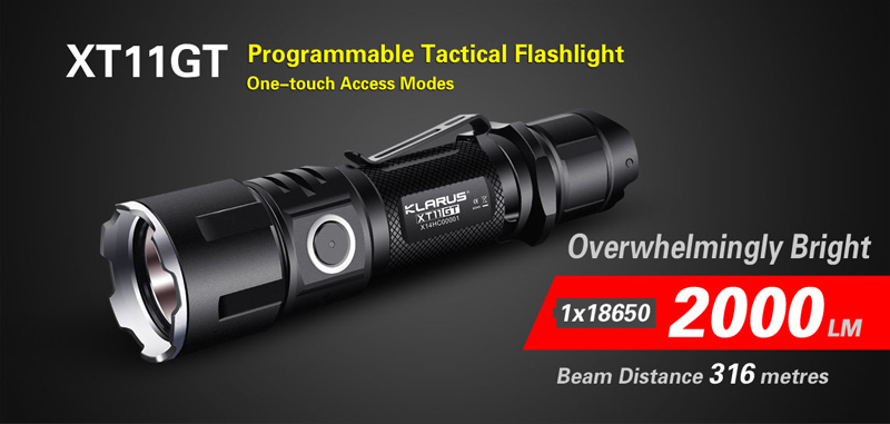 KLARUS XT11GT Programmable Tactical Flashlight (1)