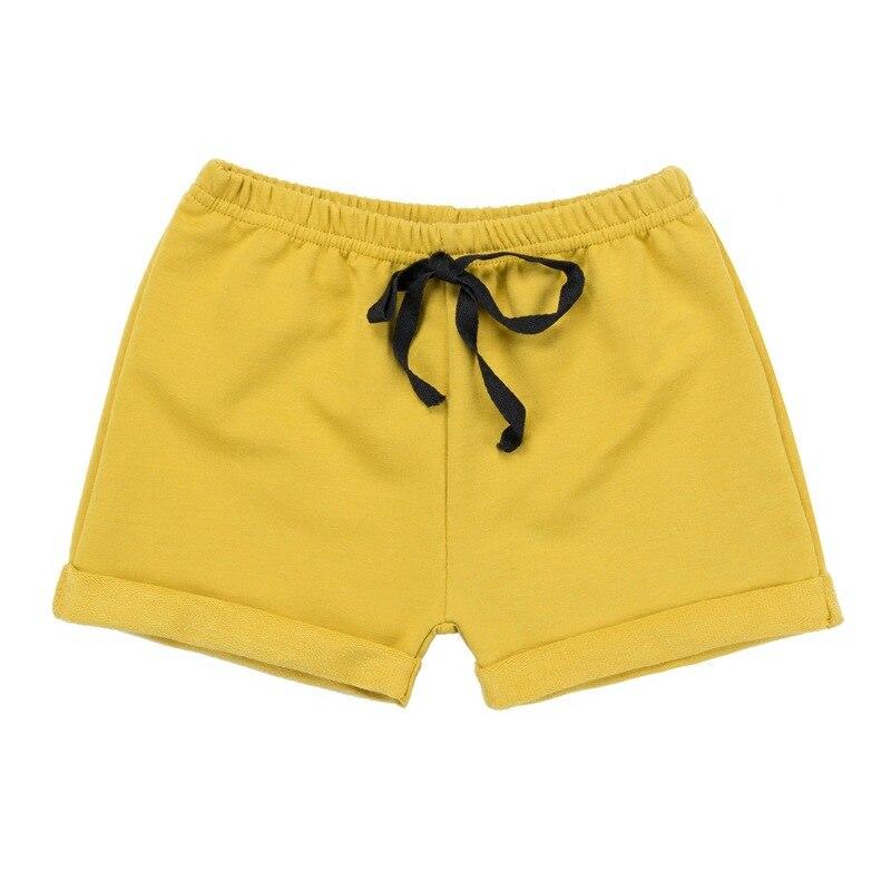 Летние тонкие детская одежда Шорты для маленьких мальчиков и девочек 5 Штаны сплошной цвет хлопок От 1 до 4 лет детские брюки для отдыха ...