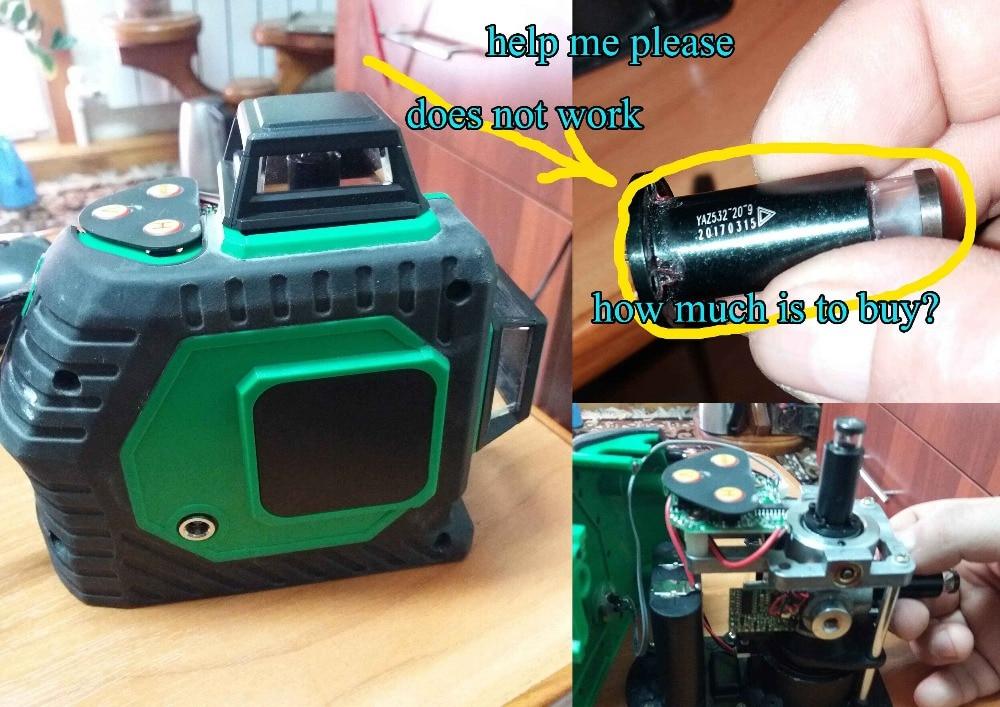 Xeast 8 lines Green laser level meter 3D laser level head a laser head laser head d ne830