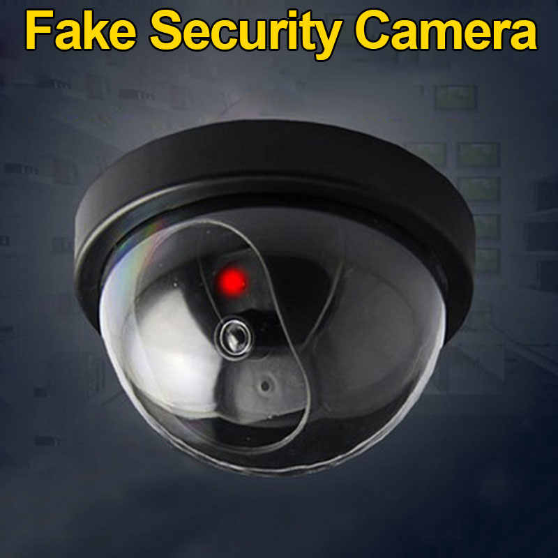 Gesimuleerde Bewakingscamera Fake Home Dome Dummy Camera met Flash rode LED Licht Security camera indoor/outdoor