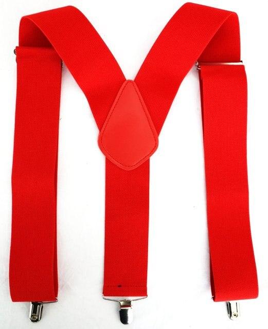 16c8a5476ca3b € 6.35  11.11 bretelles hommes nouveau 2 pouces 50mm de large noir rouge  couleur y back bretelles à Clip bretelles pour hommes homme dans Bretelles  ...