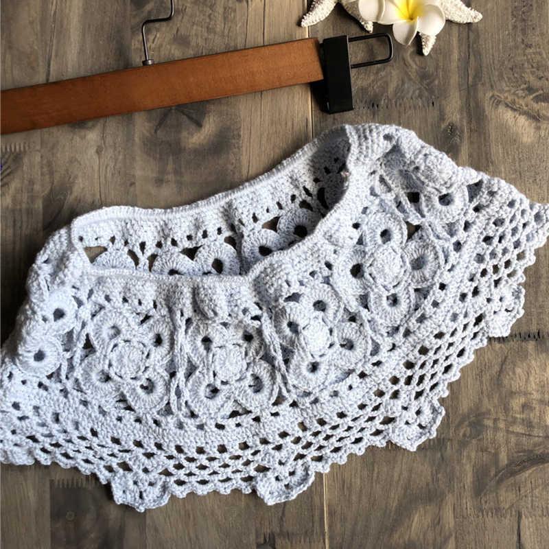9933047a65689 ... Cotton Crochet hook cover ups tube dress Hollowed out beach Short skirt  bikini TOP 1 PIECE ...