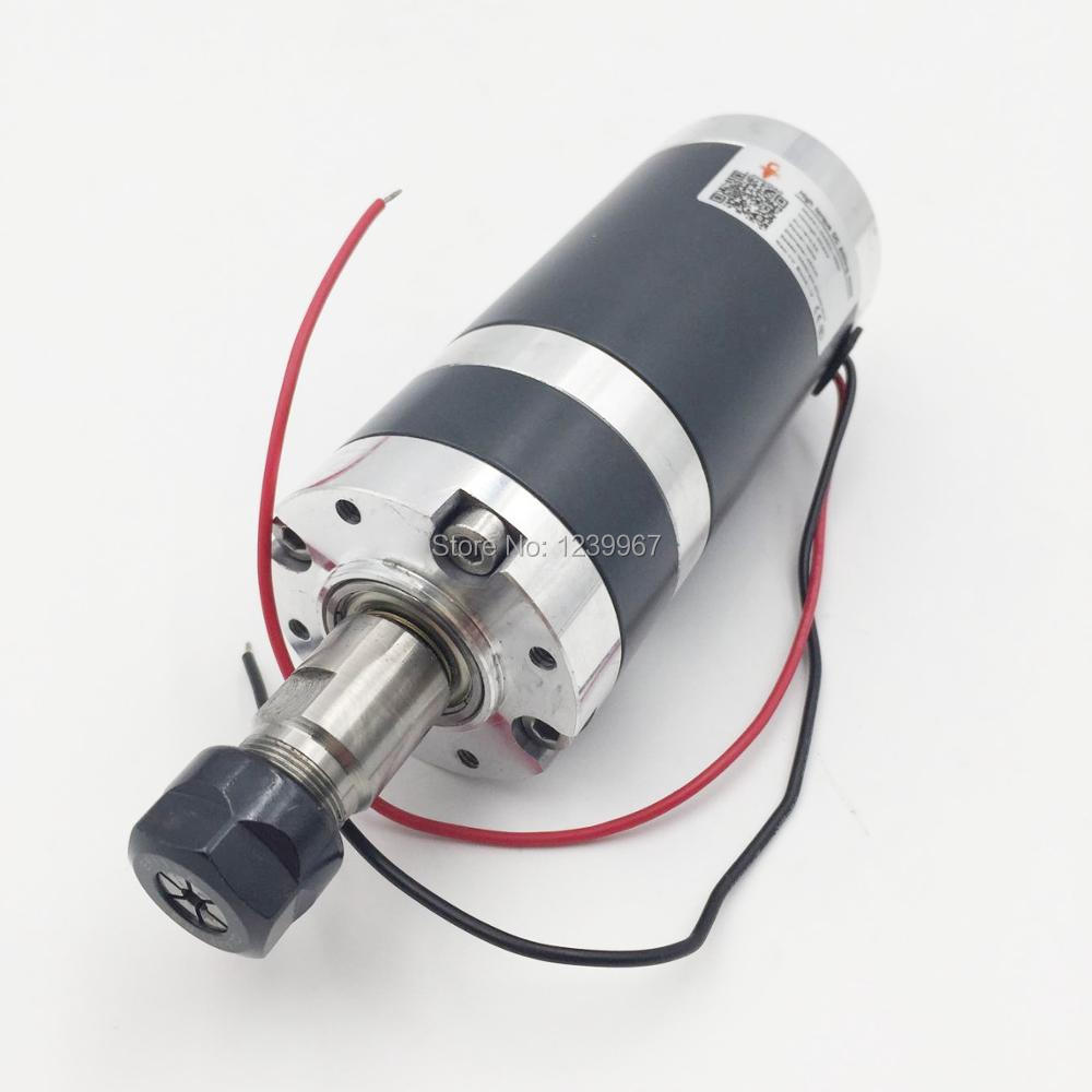DC ER11 Spindle Motor 100W 1000rpm Brushed High Torque Machine Tool Spindle for Drilling Grinding