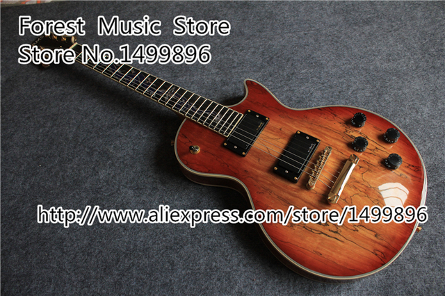 Cheap Custom Shop China OEM Earth Grain Finish LP Electric Guitar With Dragon Inlay Fretsboard For Sale