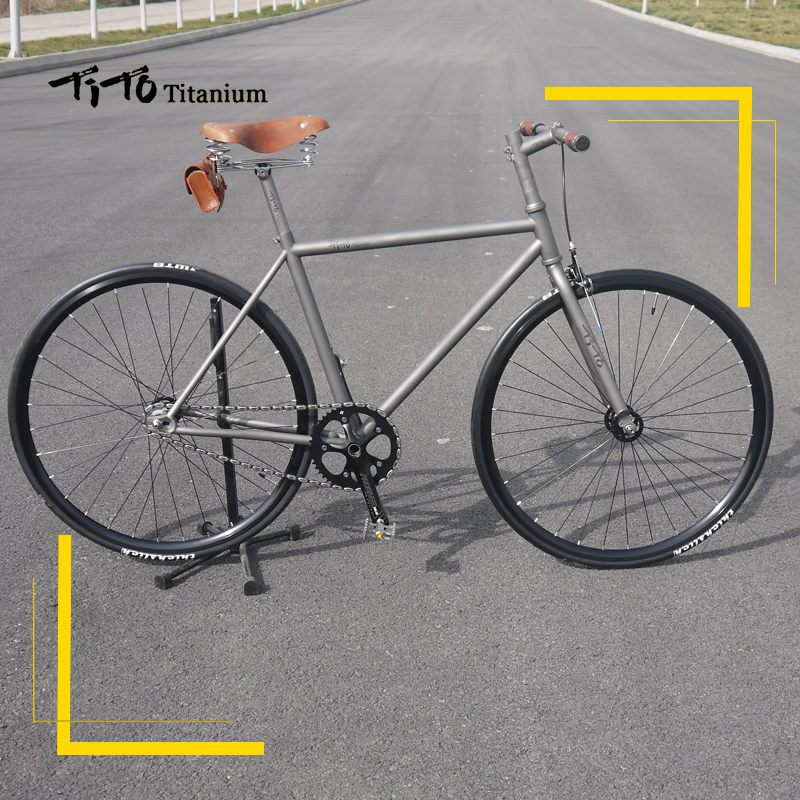 FREE SHIPPING !!! TiTo track and fixed gear single speed bike frame titanium road bicycle (can customization the frame size) rockbros titanium ti pedal spindle axle quick release for brompton folding bike bicycle bike parts
