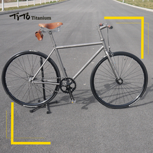 FREE SHIPPING  TiTo track and fixed gear single speed bike frame titanium road bicycle can