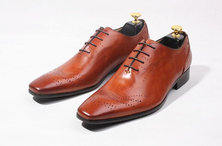Business Herren Kleid Laace Geschnitzte Toe Amerikanische Schuhe Oxford Pic Männer Handgemachte Platz Europäischen up Schuh Italienische Hochzeit As wqgY0Bw8x