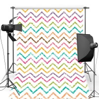 MEHOFOTO Chevron Pattern New Fabric Flannel Photography Background For Family Vinyl Backdrop For Children photo studio F2084