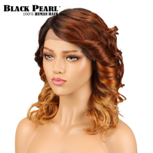 Black Pearl Loose Wave Lace Front Human Hair Wig Brazilian Ombre Remy Hair Blond