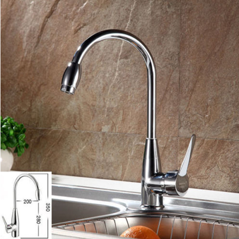 New Hot/Cold Chrome Plated Mixer Water Kitchen Faucet Bathroom Wash ...