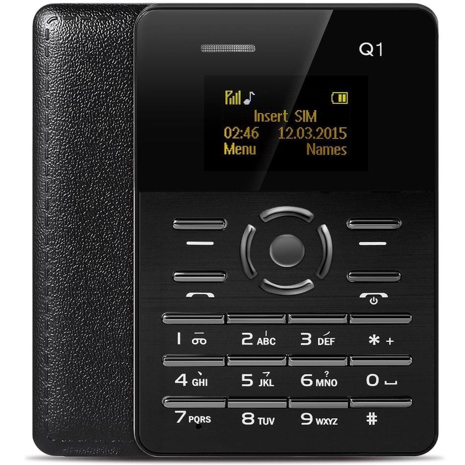 Цена за Оригинал AIEK Q1 Карты Сотовый Телефон Quad Полосы Студенты Мини Карман Телефон Low Radiation Ультра Тонкие Дети Сотовый Телефон