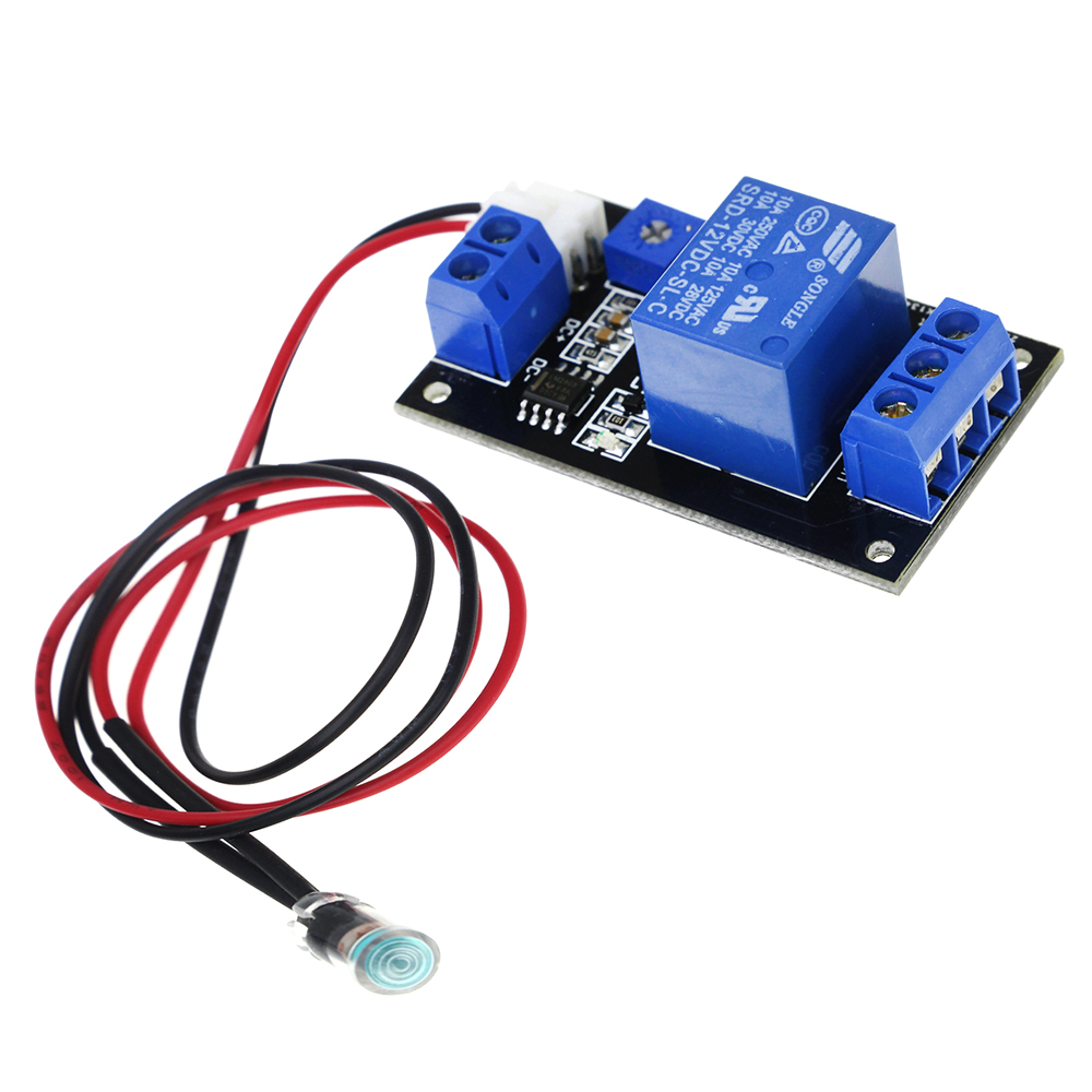 12V Photosensitive Resistance Relay Control Module/Light Switch / No Light Sensing Module with Photosensitive Resistance Line switch photoresistor relay module light detection sensor 12v car light control