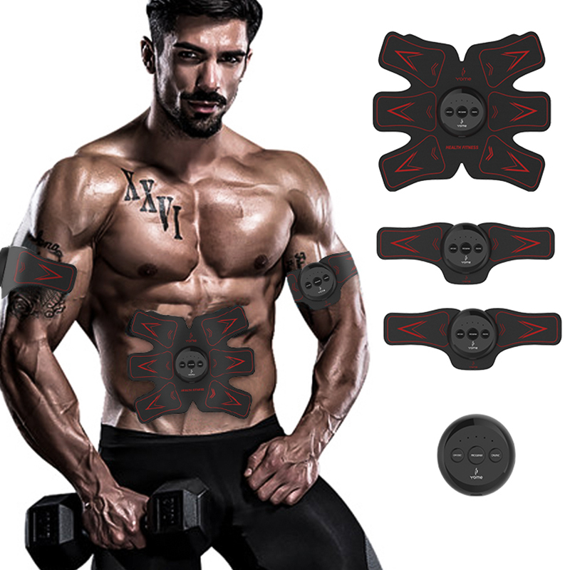 Electric Abdominal Muscle Stimulator EMS Body Trainer Device Intensive Training Weight Loss Slimming Massager Machine Smart abdominal muscle trainer abs electrical muscle stimulator ems fitness trainer weight loss body slimming massager with three host