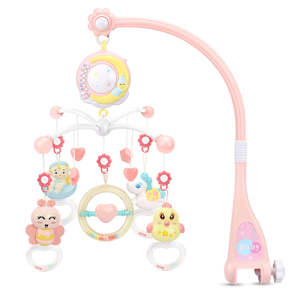 Music Rattles Crib Mobiles Baby Infant Toy Holder Rotating Crib Bed Bell Box Projection For 0-12 Months Oyuncak Newborn Toys