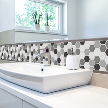 Hot Style Self Adhesive Mosaic Tile Sticker,Kitchen Backsplash Bathroom Wall Tile Stickers Decor Waterproof Peel&Stick PVC Tiles shell mosaic mother of pearl natural colorful kitchen backsplash tile bathroom background shower decor luster wall tile lsbk1005