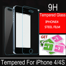Protective glass on the iPhone 4 4s glass film screen scratchproof tempered glass protective film front