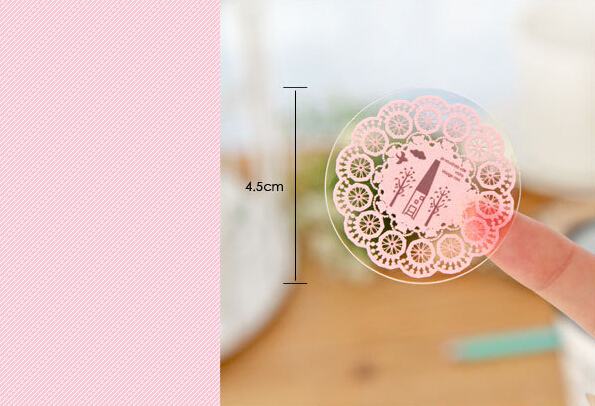 600pcs Hand Made Lace Gift Baking Bottle Packaging Packing Cookie Biscuit Cake Box Sealer Sealing Label Sticker gift bag