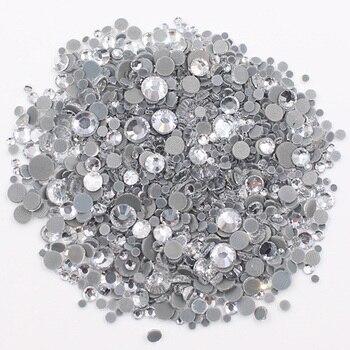 Διακοσμητικές χάντρες 2500pcs Mix Size CrystalAB Διακόσμηση Χόμπι MSOW