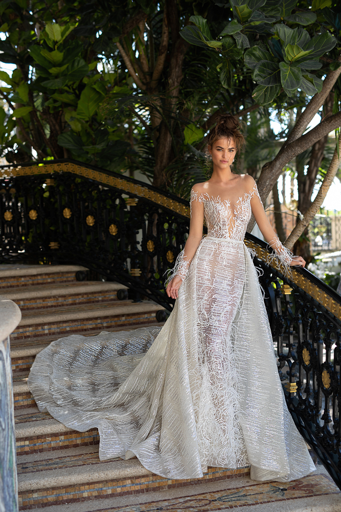 Eslieb Wedding dresses 2019 with feathers Wedding dress