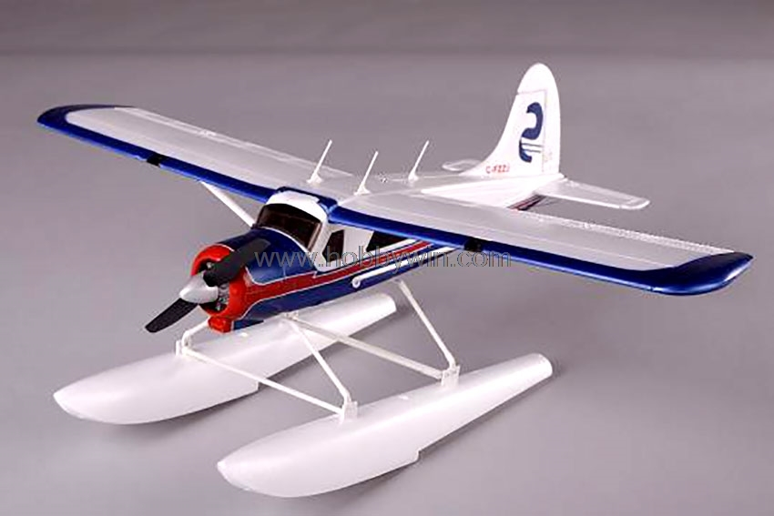 DHC-2 Beaver EPS 680mm with float PNP no Battery & Radio RC scale amphibious Model Plane contain Landing gear & Water float image
