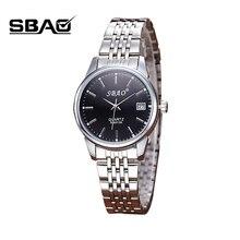 SBAO Brand Fashion Women Dress Watch Women Quartz Steel simple Wristwatches Female Dress Watches Calendar Ladies Casual Clock