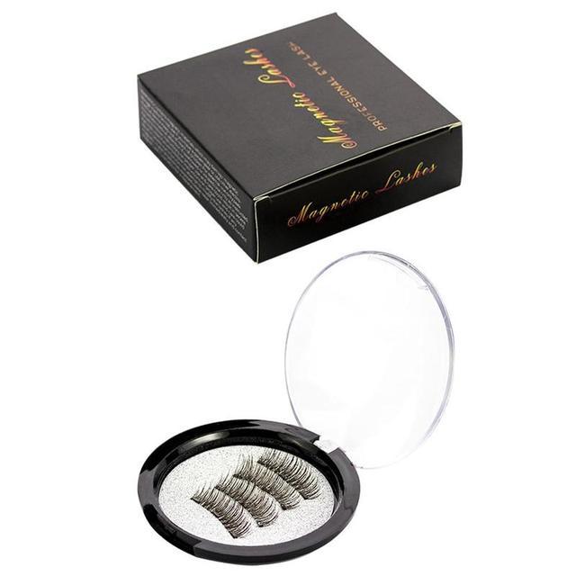 4pcs/Pair Magnetic Magnet Eyelashes Eye Makeup Kit Thick Good Quality 3d Mink Magnetic False Eyelashes Dropshipping 3