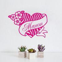 ส่วนบุคคลม้าลายพิมพ์ดอกไม้หัวใจHibisชื่อที่กำหนด
