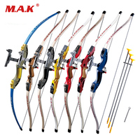 7 Color Send Sucker Recurve Bows With 3pcs Scuker Arrows For Children Safe Outdoor Sports Shooting