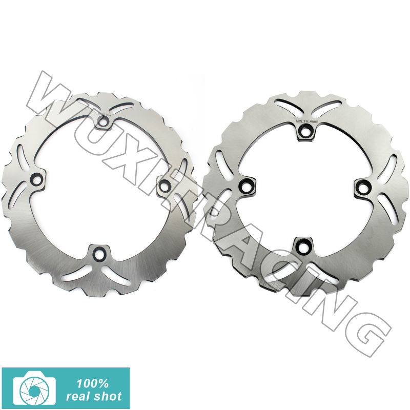 BIKINGBOY Front Rear Brake Discs Rotors New Full Set for Honda NX DOMINATOR  650 88 89 90 91 92 XR L 650 93-12 full set front rear brake discs rotors for honda nx dominator 650 88 89 90 91 92 1988 1989 1990 1991 1992 xr l 650 93 12