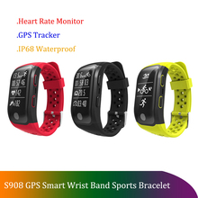 S908 Altitude Meter GPS Activity Track Smart Bracelet Heart Rate Monitor Fitness Tracker Smart Watch IP68 Waterproof Wristwatch s908 gps smart band fitness smart wristband heart rate ip68 waterproof bracelet tracker smartband watch
