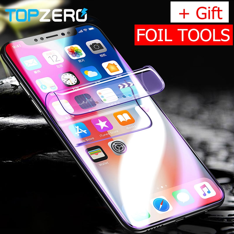new photos 0bb61 690ba US $3.55 25% OFF|Full Cover Hydrogel Screen Protector Soft Film For iPhone  X 7 8 Plus 10 Soft Protector Film For iPhone 6 6s Plus (Not Glass) -in ...