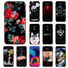 Ojeleye Fashion Black Silicon Case For Huawei Mate 20 X Cases Anti-knock Phone Cover 20X Covers