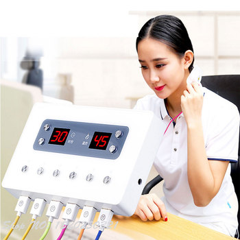 New Intelligent Electronic Smokeless Moxibustion Instrument Home Far Infrared Portable Moxibustion 6 Way Output Health Massager