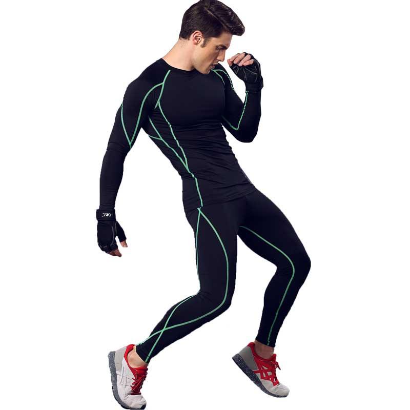 Men Pro Fitness Sets QUICK DRY Exercise Gymming Top + Short T shirt Tee Vest Sporting Beach Board Runs Yogaing Tank T Shirt 3134