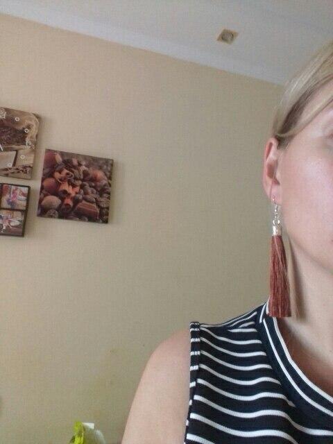 Купить lzhlq 2 пары серьги с кисточками женские модные ювелирные изделия