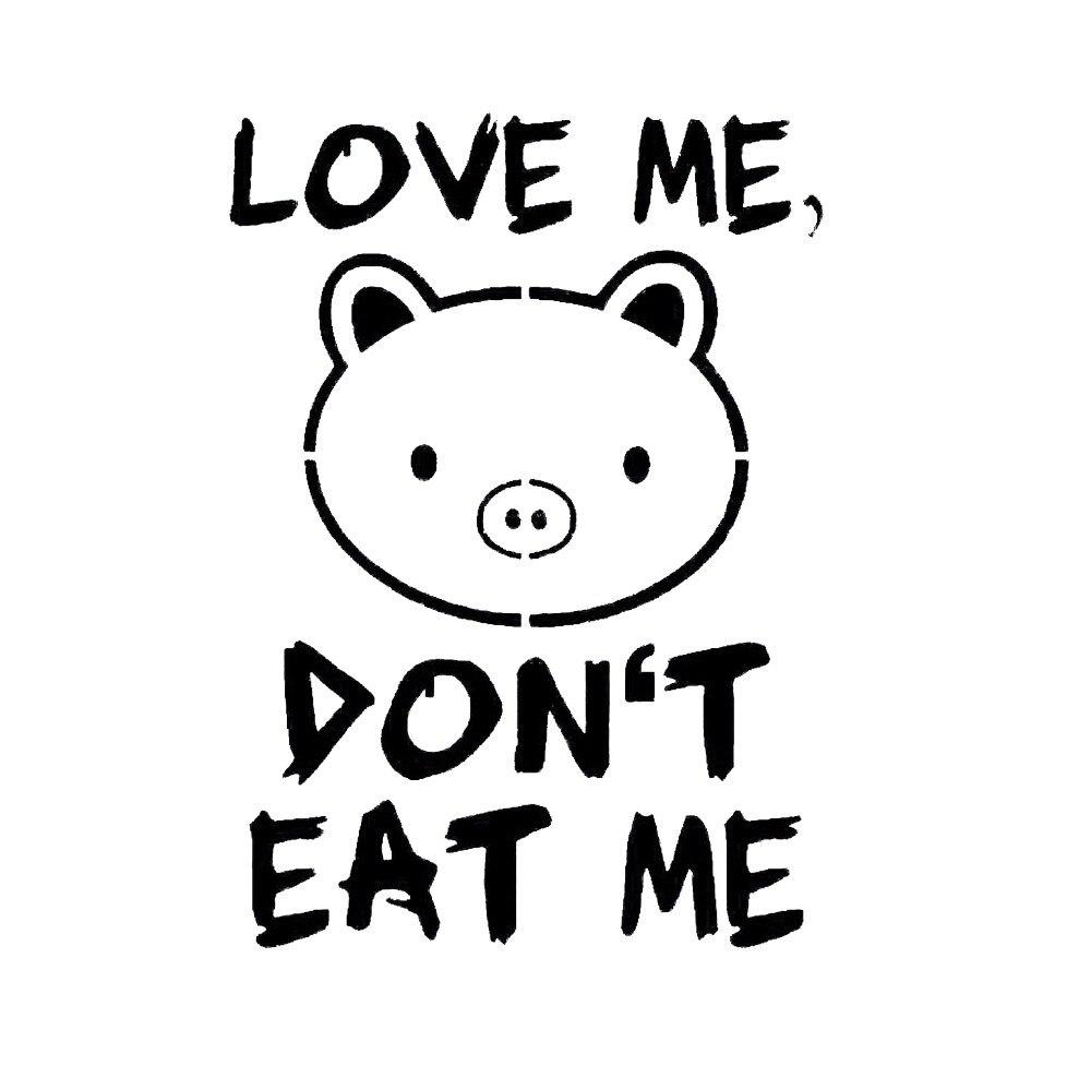 12*8.5cm Jdm Sticker Decal Autoaufkleber Love Me Schwein Vegetarier Vegan Vinyl Car Stickers And Decals