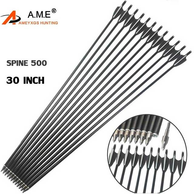 6 10 pcs lot 30 inches spine 500 2 black 1 white feather fiberglass