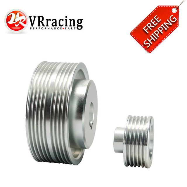 FREE SHIPPING For Subaru IMPREZA WRX V. 7 8 9 GDB/GDA 02-07 LIGHT WEIGHT CRANK PULLEY HIGH QUALITY VR6861S