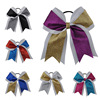 6 7 6pcs Big Sequin Cheer Bows With Elastic Band Hand Made Bling Girl S Cheerleading