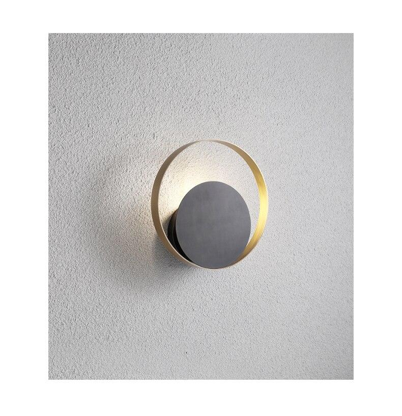 estar moderno e minimalista redondo corredor quarto lâmpada cabeceira parede