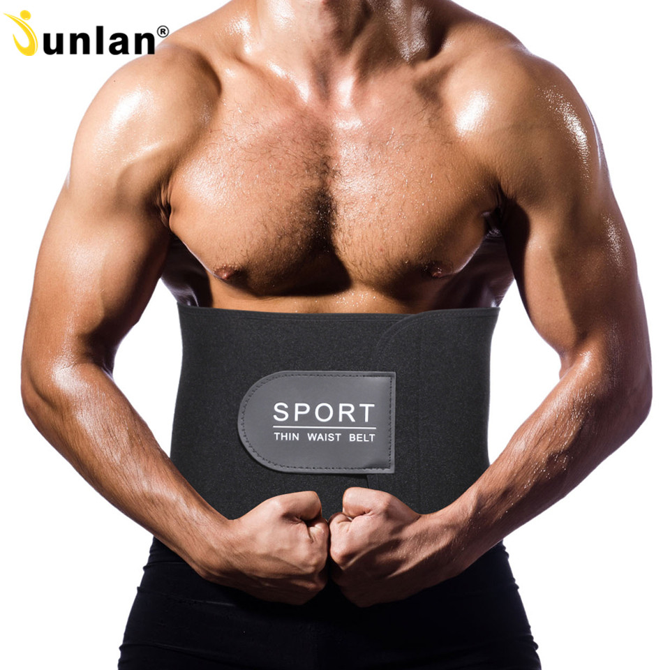 Junlan Men's Slimming Belt Neoprene Adjustable Thin Waist Trainer Hot Shaper Modeling Strap Male Shapewear for Body Control