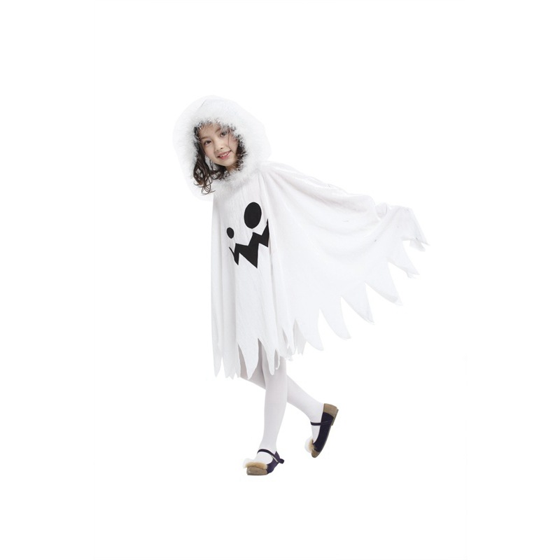 Child Kids Toddlers White Ghost Cloak Halloween Costumes  2