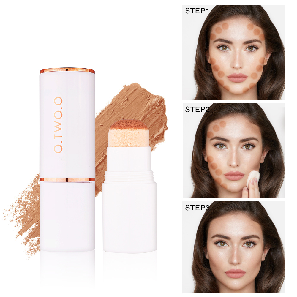 O.T.O Air Cushion Concealer Stick Full Cover Contour Face Makeup Lasting Foundation Base Hide Blemish Pores Bronzer Cosmetic9986 image