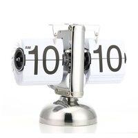 Creative Hot New Digital Flip Down Clock Internal Gear Operated Flip Desk Shelf Clock XH8Z MA19