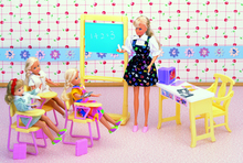 original for princess barbie classroom doll accessories 1/6 bjd doll school desk barbie furniture supplies set toy gift