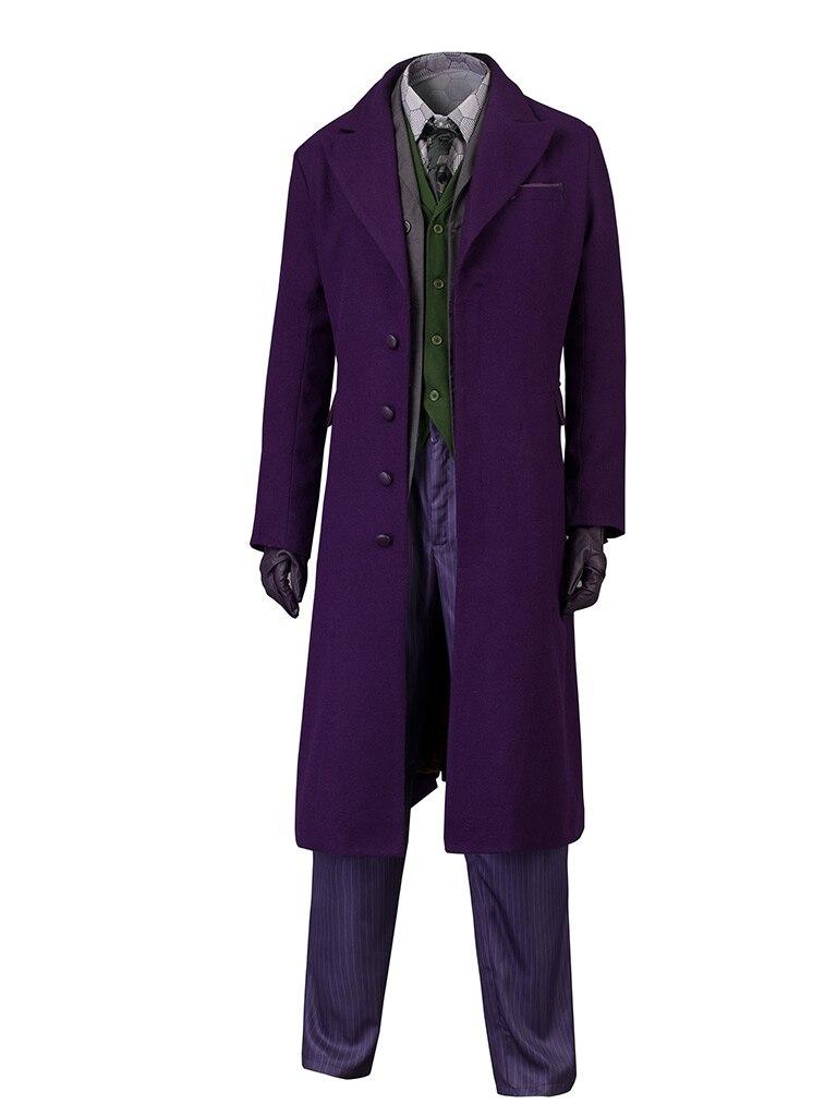Batman The Dark Knight Rises Joker Cosplay Costume mp003437 Woollen coat version