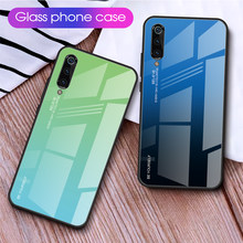 Gradient Tempered Glass Case For Xiaomi Mi 9 SE 8 Lite Mi8 Lite Mi9 Shockproof Phone Cover For Xiaomi Mi9SE Mi 9 Mi9 t 9t Cases(China)